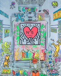 Coco Keith Haring  by Diederik Van Apple -  sized 31x39 inches. Available from Whitewall Galleries